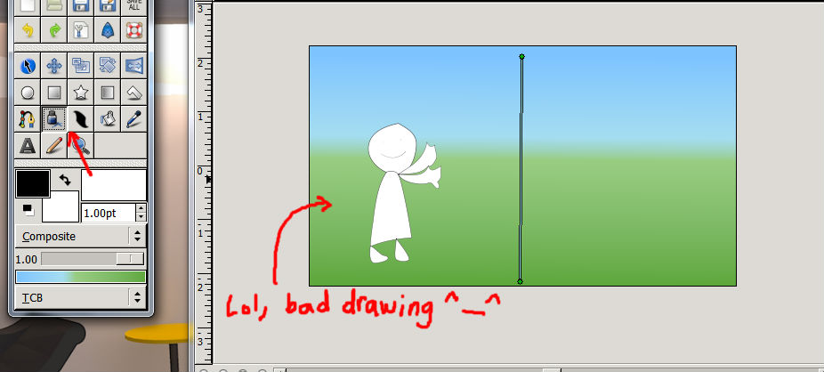 Using the draw tool
