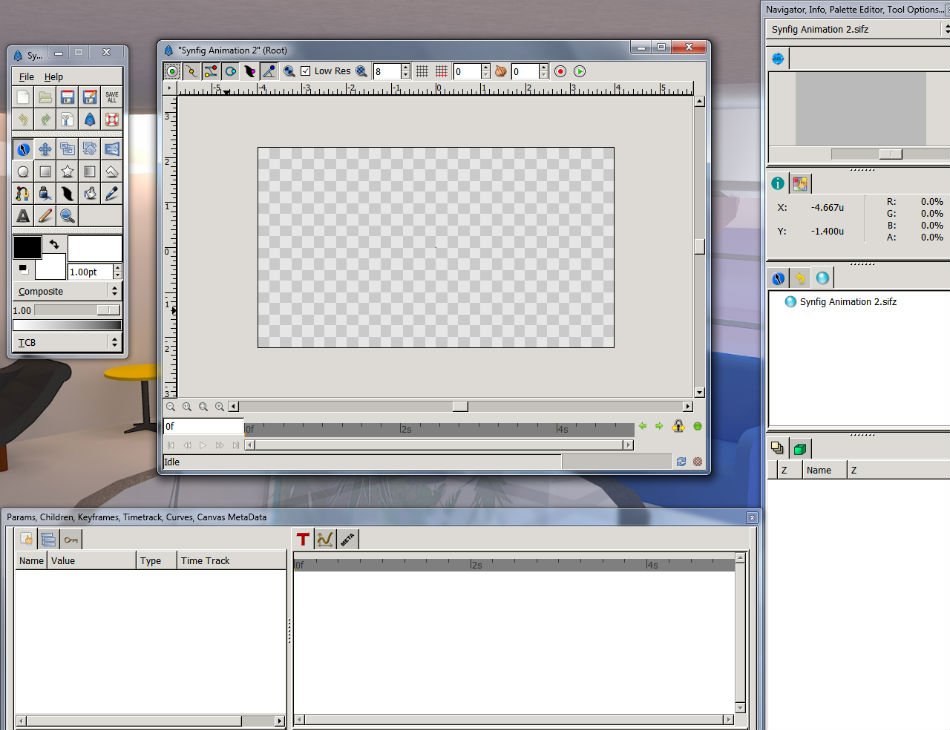 Synfig workspace